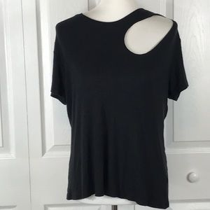 Rock & Republic Top XL Womens Black Cut Out Top